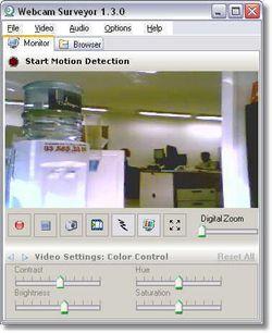 Webcam Surveyor screen 2