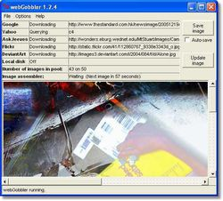 WebGobbler screen
