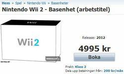 Webhallen - réservation Wii 2