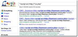 Websense-LizaMoon-script-google