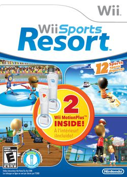 Wii Sports Resort - deux Wii MotionPlus - pochette
