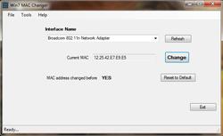 Win7 MAC Address Changer  screen2