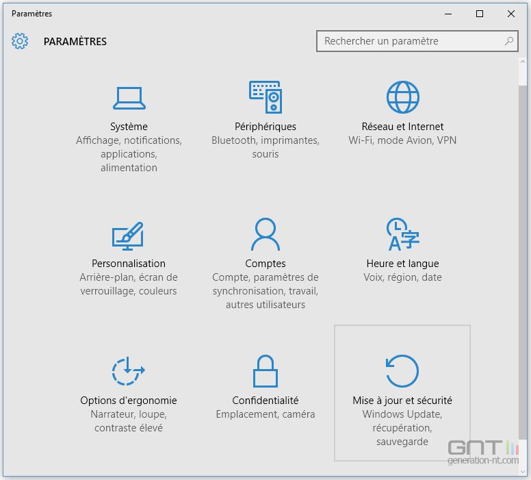 Citaten Zoon Win 10 : Windows parametres