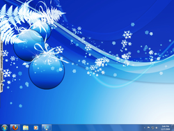 Windows 7 Christmas Theme screen 2