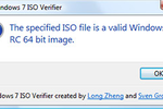 Windows 7 ISO Verifier : tester la validité des copies ISO de Windows 7