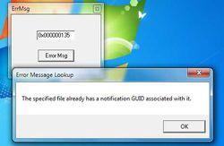 Windows Error Code Lookup Tool screen1