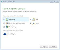 Windows Essentials 2012 screen1