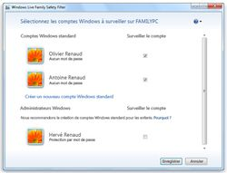 Windows Live Controle Parental screen1