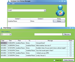 Windows Live History Manager screen1