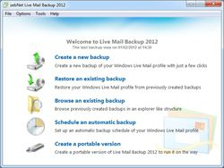 Windows Live Mail Backup screen1
