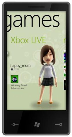 Windows Phone 7 Series Xbox