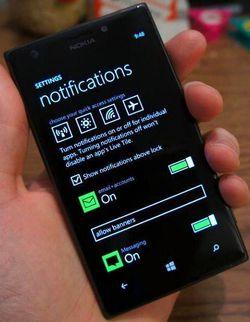 Windows Phone centre notifications 1