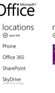 Windows Phone Office Hub