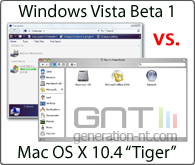 Windows vista beta 1 vs mac os tiger 10 4