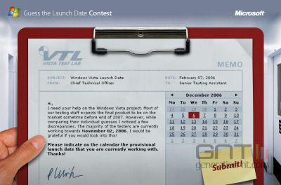 Windows vista launch contest