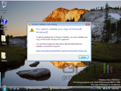 Windows vista sp platform notification copie illicite small