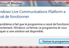 Windows Live Messenger 2009 peut s'enrhumer au lancement