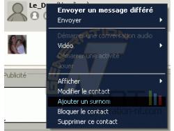 WLM - Ajouter un surnom