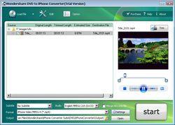 Wondershare DVD to iPhone Converter screen