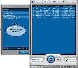 Wondershare Streaming Video Recorder screen