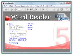 Word Reader screen1.