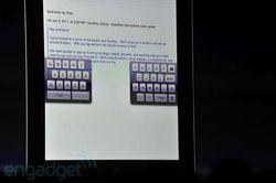 WWDC 2011 iOS 5 clavier