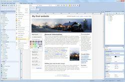 WYSIWYG Web Builder screen2