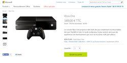 Xbox One Microsoft 350 euros