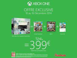 Xbox One - promo Noel 2014 Auchan