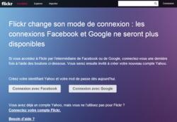 Yahoo-Flickr-connexion