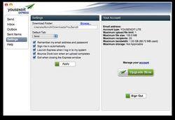 youSENDit Express screen1