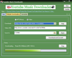 Youtube Music Downloader screen1