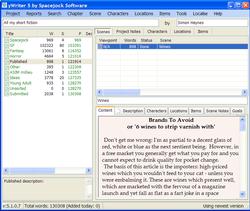 yWriter screen1