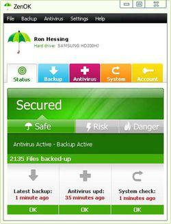 ZenOK Free Antivirus screen1