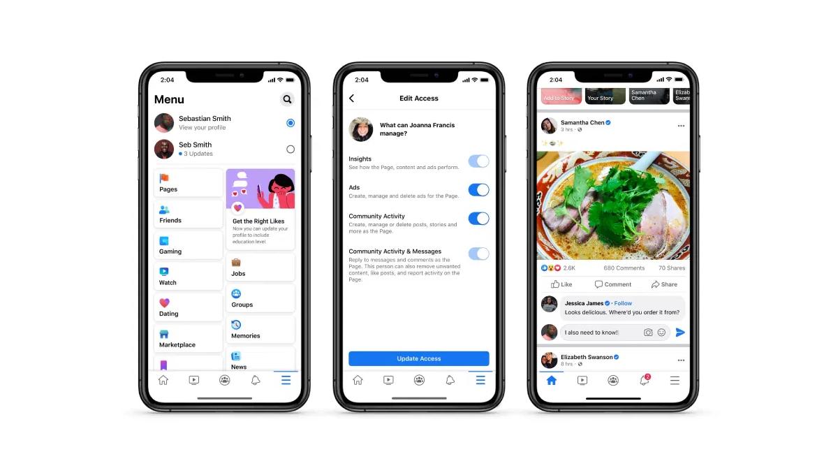 Une nouvelle version des Pages sans Like — Facebook