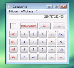 Calculatrice lisible 3