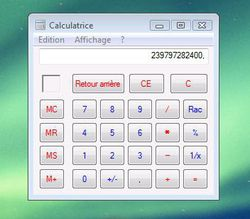 Calculatrice lisible 1
