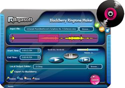 Bigasoft BlackBerry Ringtone Maker screen
