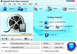 Bigasoft iPad Video Converter screen