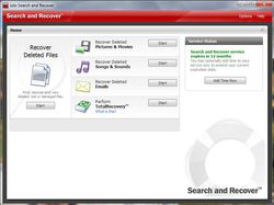 Iolo Search and Recover screen