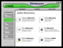 Easy Recovery 6 Data Recovery screen