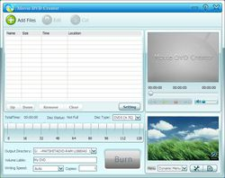 GiliSoft Movie DVD Creator screen