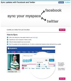 MySpace-Facebook-Synchronisation
