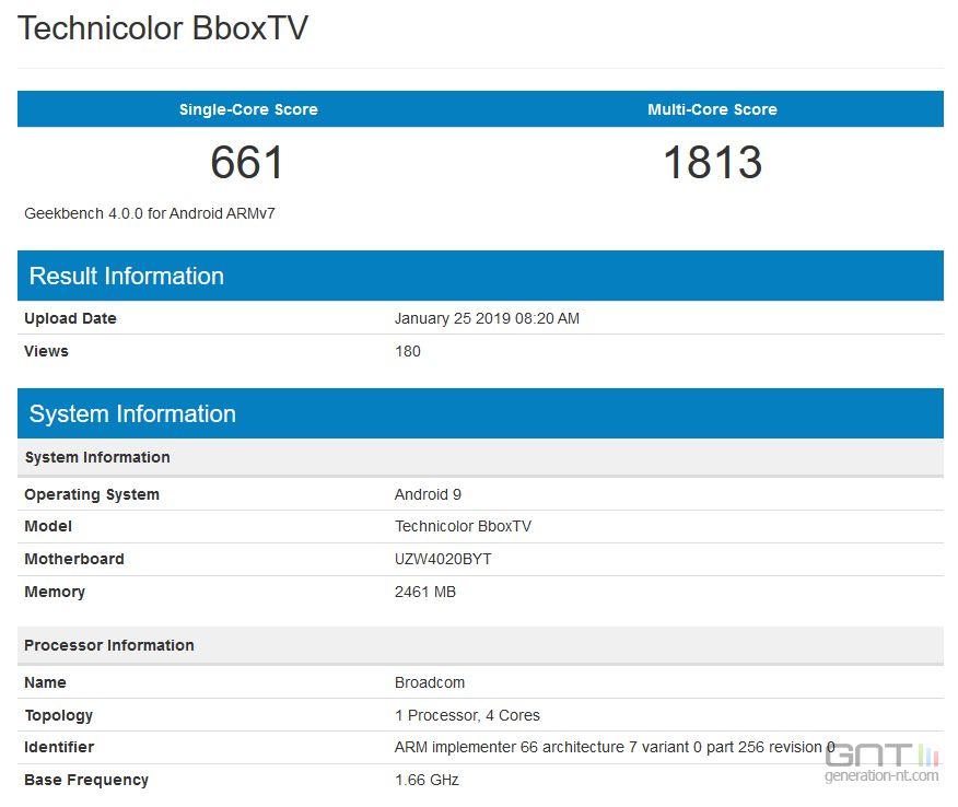 La future Bbox Android TV avec Android Pie