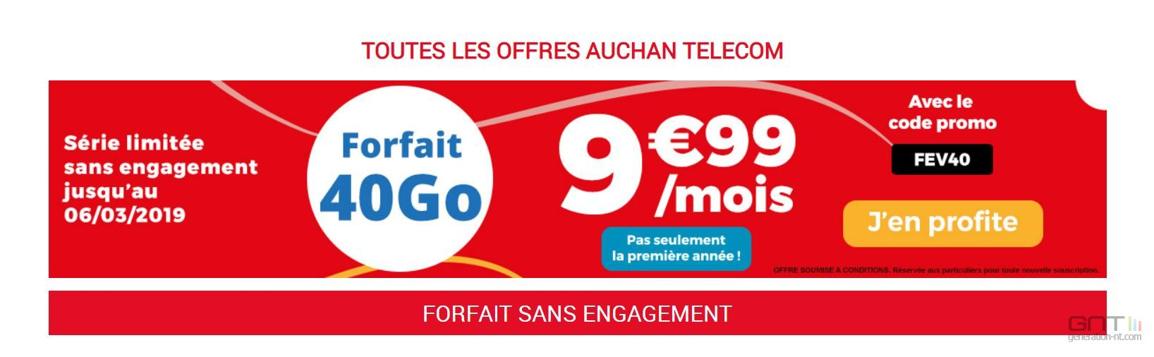 Carte Sim Auchan Telecom.Bon Plan Forfaits Mobiles Auchan Telecom B You Free