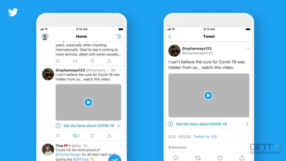 Twitter renforce ses mesures contre la désinformation — Coronavirus