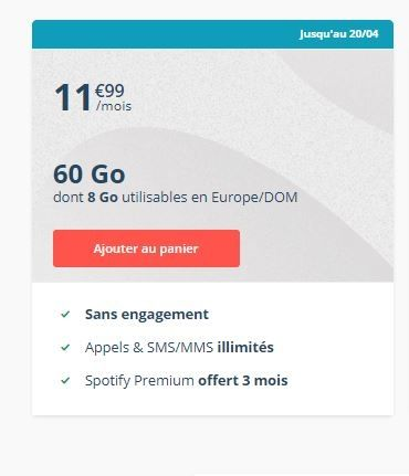betyou forfait mobile 60 Go