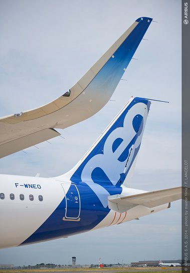 Airbus A320neo sharklets