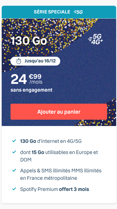 B and You forfait 5G