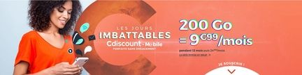 forfait mobile cdiscount 200 Go